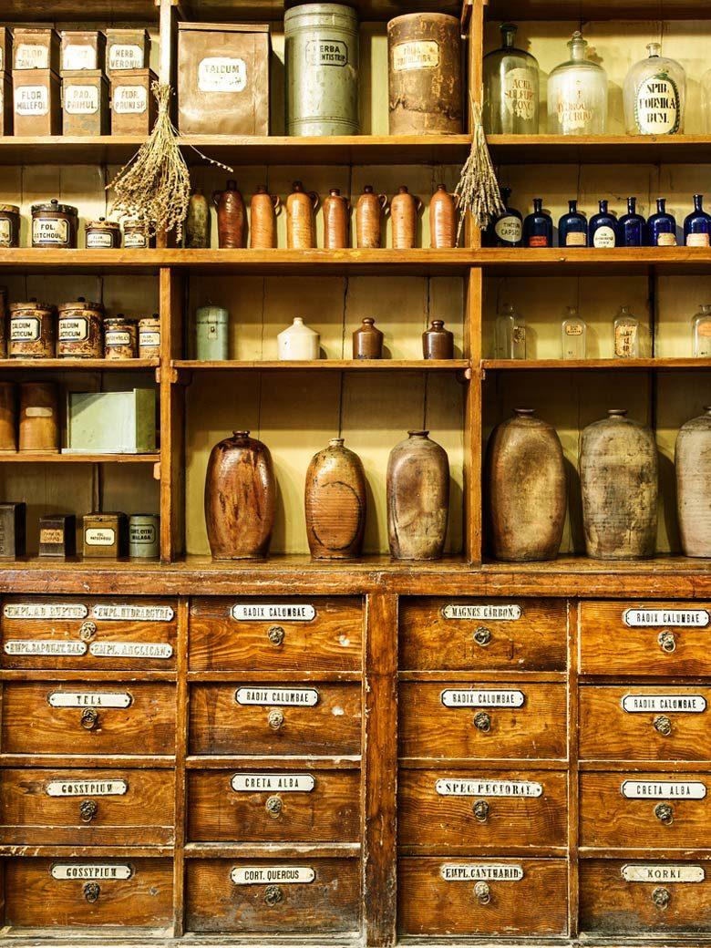 Historische Heilpflanzen Apotheke